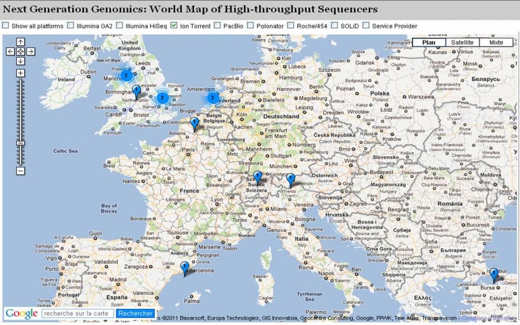 cartographie des plateformes de séquençage haut-débit